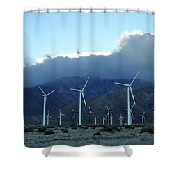 Wind Power Near Palm Springs, Ca Shower Curtain by Diane Lent