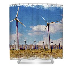 Wind Power Shower Curtain
