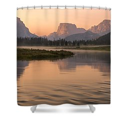 Shower Curtain featuring the photograph Wind River Dawn by Dustin  LeFevre