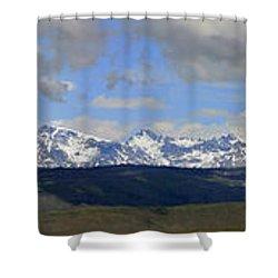 Dm9504-wind River Range Panorama  Shower Curtain