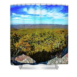 Wind Rock Panorama Shower Curtain