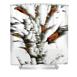 Shower Curtain featuring the painting Wind Series 05.072311windblastscvss by Kris Haas