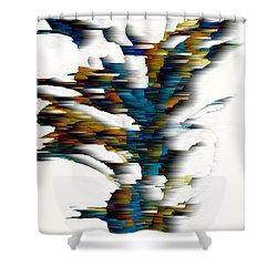 Shower Curtain featuring the painting Wind Series 08.072311wscvss by Kris Haas