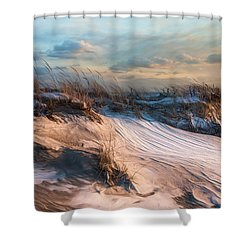 Shower Curtain featuring the photograph Wind Swept by Robin-Lee Vieira