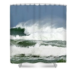 Wind Whipped Waves Shower Curtain by Michelle Wiarda