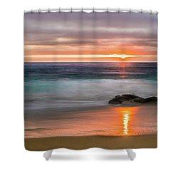 Windansea Beach At Sunset Shower Curtain