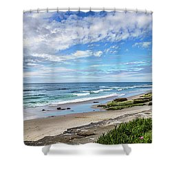 Shower Curtain featuring the photograph Windansea Wonderful by Peter Tellone