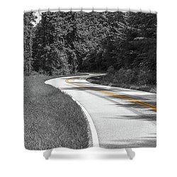 Winding Country Road In Selective Color Shower Curtain
