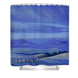 Winding Roads Shower Curtain