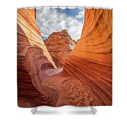 Winding Stripes Of Sandstone Shower Curtain