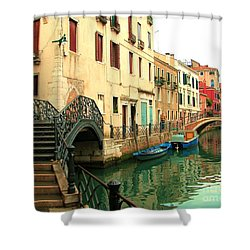 Winding Through The Watery Streets Of Venice Shower Curtain