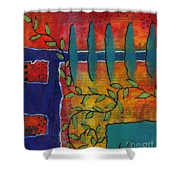 Winding Vines Shower Curtain by Angela L Walker