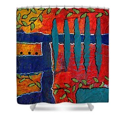 Winding Vines II Shower Curtain by Angela L Walker