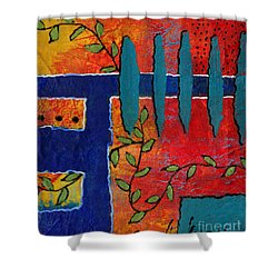 Winding Vines IIi Shower Curtain by Angela L Walker