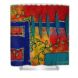 Winding Vines Iv Shower Curtain