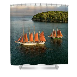 Windjammer Cruises  Shower Curtain