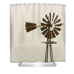 Windmill #1 Shower Curtain by Susan Crossman Buscho
