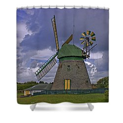 Windmill Amrum Germany Shower Curtain