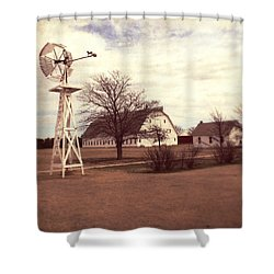Shower Curtain featuring the photograph Windmill At Cooper Barn by Julie Hamilton