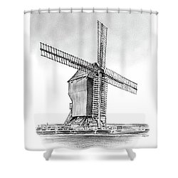 Windmill At Valmy Shower Curtain