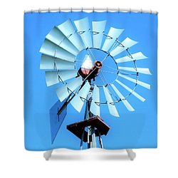 Shower Curtain featuring the photograph Windmill - Bright Sunny Day by Ray Shrewsberry