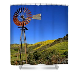 Shower Curtain featuring the photograph Windmill by Henrik Lehnerer