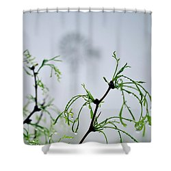 Windmill In The Mist Shower Curtain