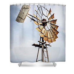 Windmill In The Sky Shower Curtain