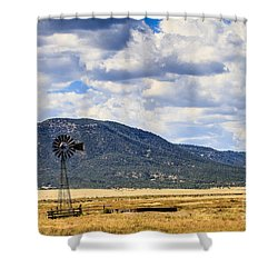 Windmill New Mexico Shower Curtain