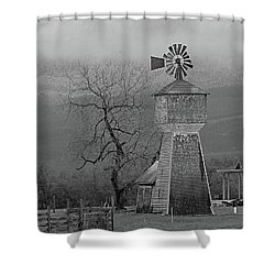 Shower Curtain featuring the photograph Windmill Of Old by Suzy Piatt
