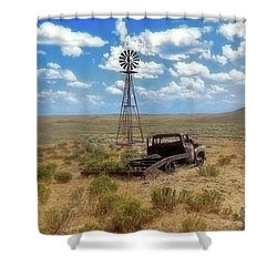 Windmill Over Lenzen Shower Curtain