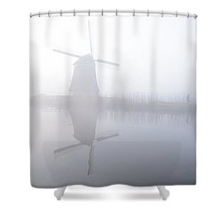Windmill Reflection Shower Curtain