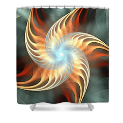 Shower Curtain featuring the digital art Windmill Toy by Anastasiya Malakhova