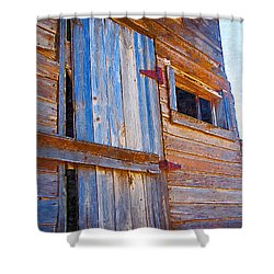 Shower Curtain featuring the photograph Window 3 by Susan Kinney