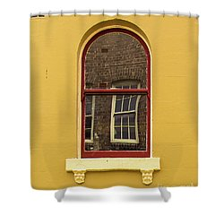 Shower Curtain featuring the photograph Window And Window 2 by Perry Webster
