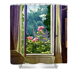 Window At Clermont Shower Curtain