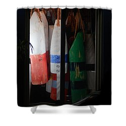 Window Buoys Key West Shower Curtain by Expressionistart studio Priscilla Batzell