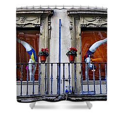 Window Dressing 2 In Florence Italy Shower Curtain