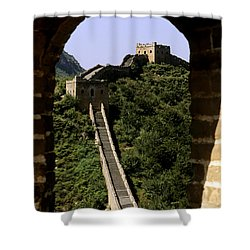 Window Great Wall Shower Curtain by Bill Bachmann - Printscapes