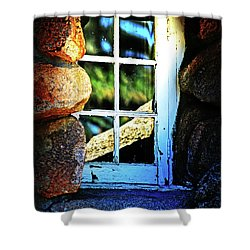 Window In Rock Shower Curtain