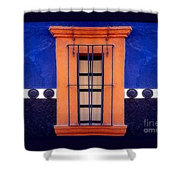 Window In San Miguel De Allende Shower Curtain by Linda  Parker
