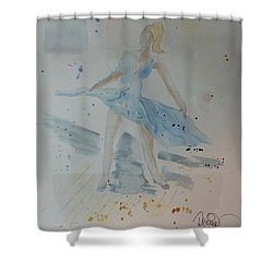 Shower Curtain featuring the painting Window Of Opportunity by Denise Tomasura
