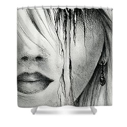 Window Of The Soul Shower Curtain by Rachel Christine Nowicki