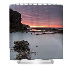 Window On Dawn Shower Curtain by Mike  Dawson