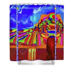 Window On Santa Fe Shower Curtain