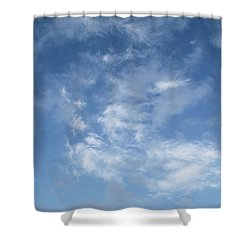 Window On The Sky In Israel During The Winter Shower Curtain by Yoel Koskas