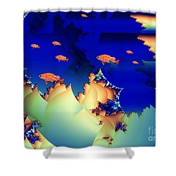 Window On The Undersea Shower Curtain by Ron Bissett
