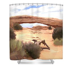 Window On The Valley Shower Curtain