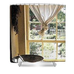 Window On Yesterday Shower Curtain