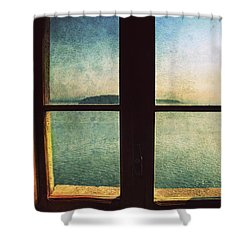 Window Overlooking The Sea Shower Curtain